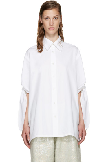 Ashish - White Tie Sleeve Shirt