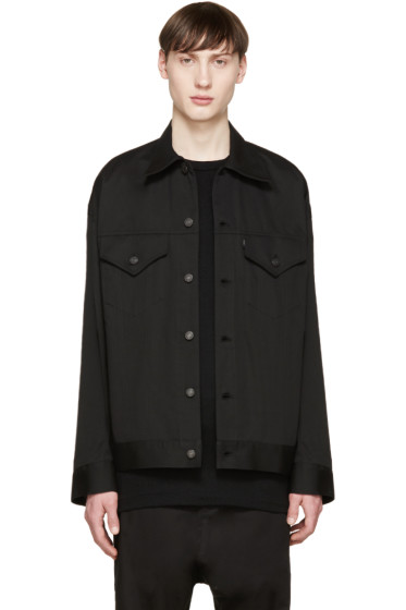Lad Musician - Black Denim Boxy Jacket