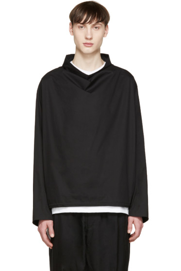 Lad Musician - Black Funnel Neck Pullover Jacket