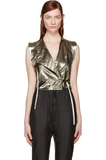 Isabel Marant - Gold Silk Natalia Vest