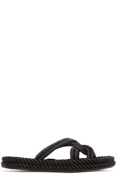Isabel Marant - Black Popeye Rope Sandals