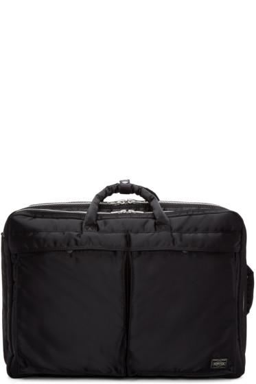 Porter - Black Tanker 2Way Overnighter Bag