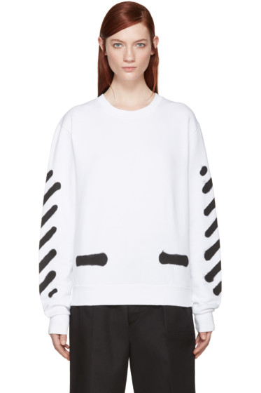 Off-White - White Spray Paint Pullover