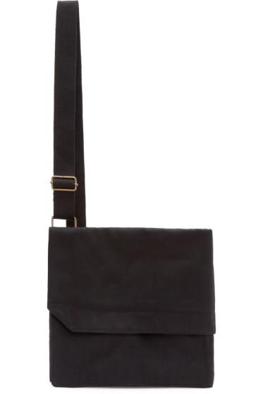 Lemaire - Black Denim Ergonomic Messenger Bag