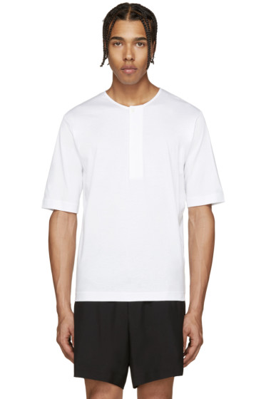 Lemaire - White Henley T-Shirt