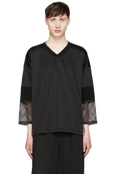 Toga Virilis - Black Mesh Sleeve T-Shirt