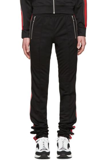 99% IS - Black & Red Zip Lounge Pants