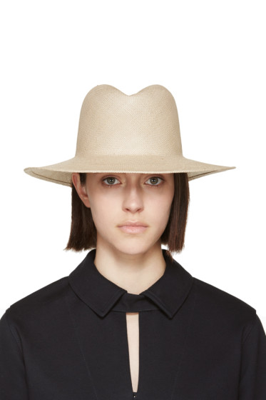 Clyde - Tan Straw Dip Hat