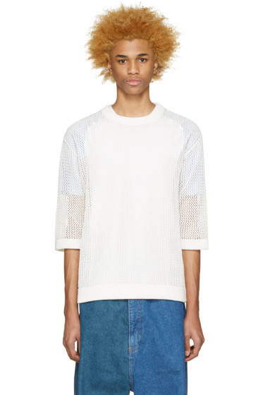 Kidill - White Knit Mesh Sweater