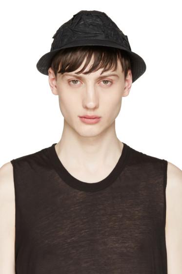 Isabel Benenato - Black Crinkled Bucket Hat