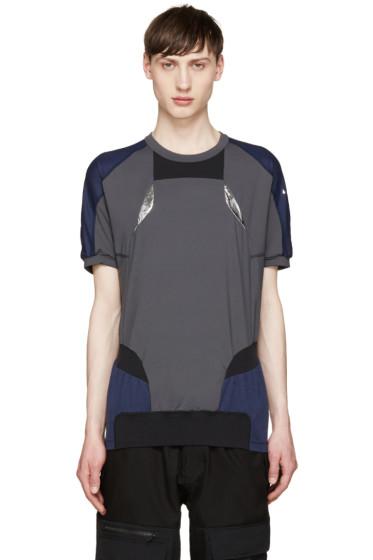 Adidas x Kolor - Tricolor Panelled T-Shirt