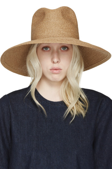 Albertus Swanepoel - SSENSE Exclusive Tan Wide-Brim Martinique Hat