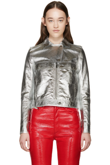 Courrèges - Silver Metallic Leather Jacket