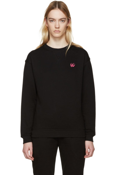 McQ Alexander Mcqueen - Black Embroidered Pullover