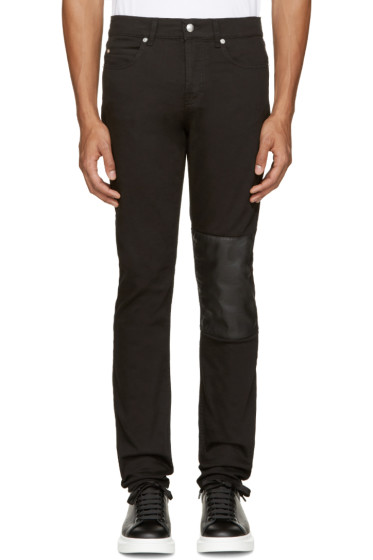 McQ Alexander Mcqueen - Black Patch Strummer 01 Jeans