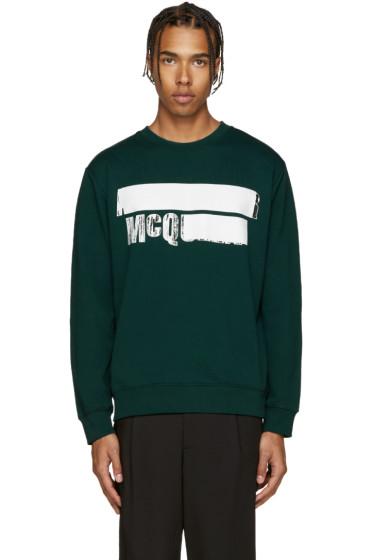 McQ Alexander Mcqueen - Green Logo Sweatshirt