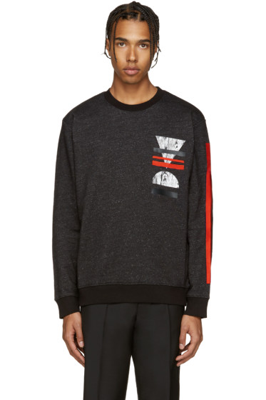McQ Alexander Mcqueen - Black Embroidered Pullover