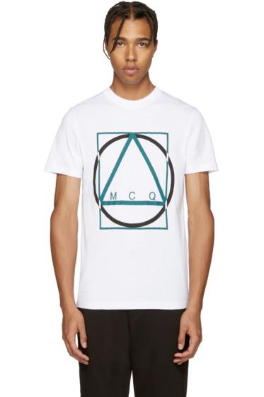 McQ Alexander Mcqueen - White Logo T-Shirt