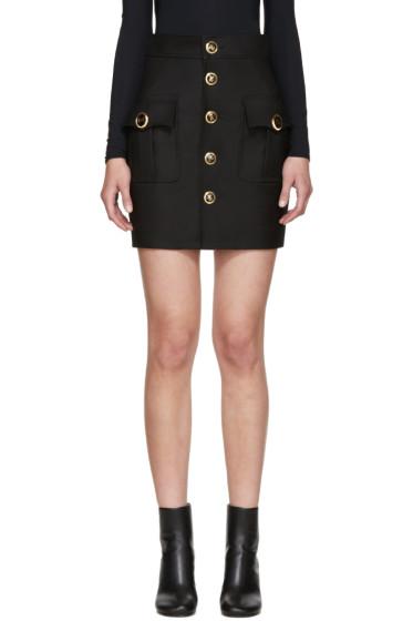 Dsquared2 - Black Wool & Silk Blend Lyon Skirt