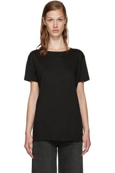 Helmut Lang - Black Open Back T-Shirt