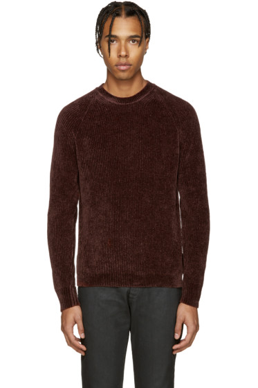 Maison Margiela - Brown Ribbed Sweater