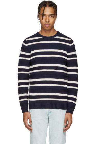 A.P.C. - Navy & Cream Transat Sweater