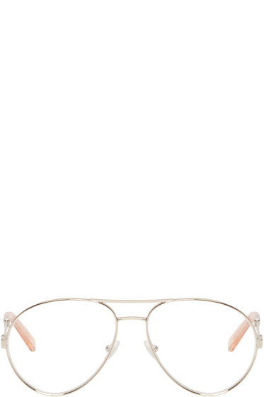 Chloé - Gold Aviator Optical Glasses