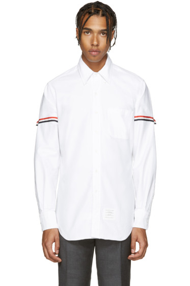 Thom Browne - White Armbands Shirt