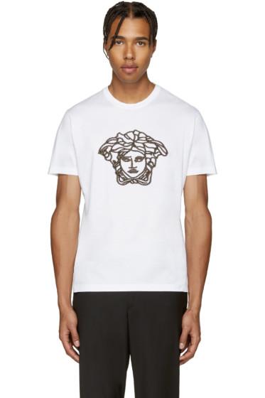 Versace - White Studded Medusa Shirt