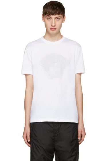 Versace - White Studded Medusa T-Shirt