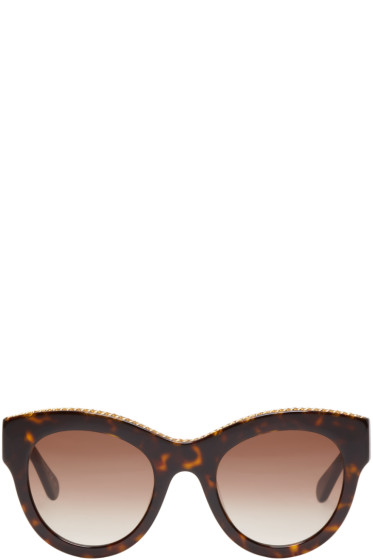 Stella McCartney - Tortoiseshell Cat-Eye Chain Sunglasses