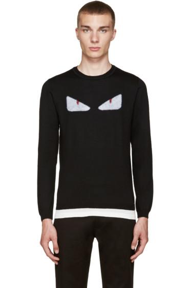 Fendi - Black Monster Eyes Sweater