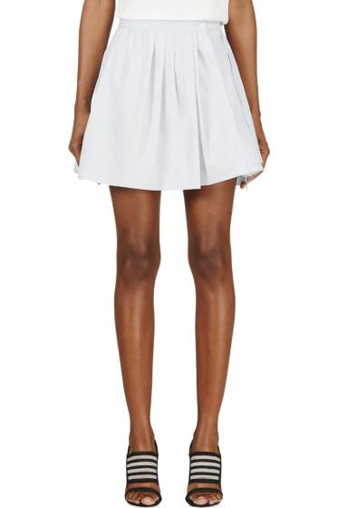 Nina Ricci - Lavender Tuxedo Pleat & Ruffle Skirt