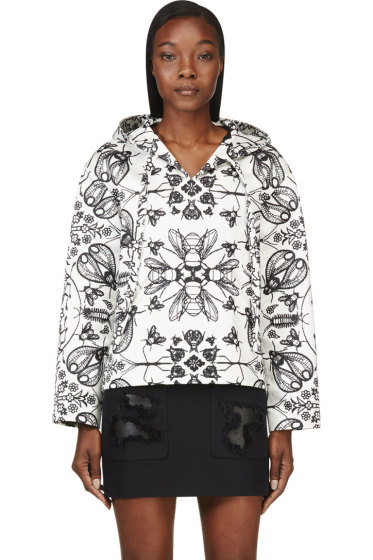Alexander Wang - Ivory Insect & Floral Print Pullover