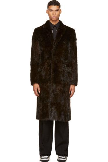 Givenchy - Dark Brown Musquash Fur Long Overcoat