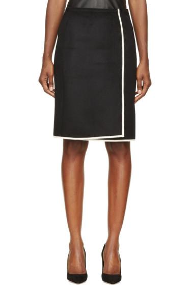 Nina Ricci - Black & While Wool Panel Skirt
