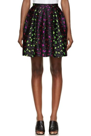 Christopher Kane - Pink & Green Silk Leopard Princess Skirt