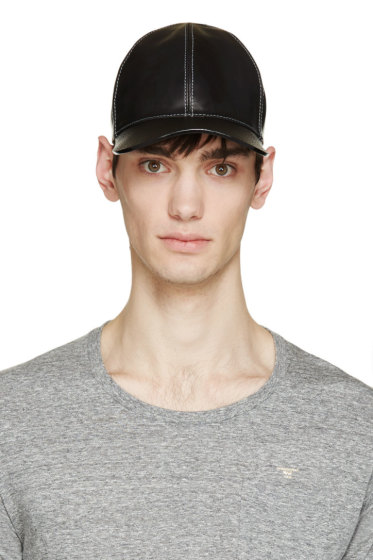 Marc Jacobs - Black Leather Baseball Cap