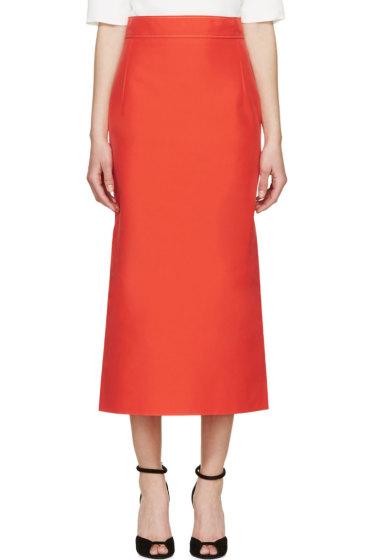 Nina Ricci - Coral Mid-Length Skirt