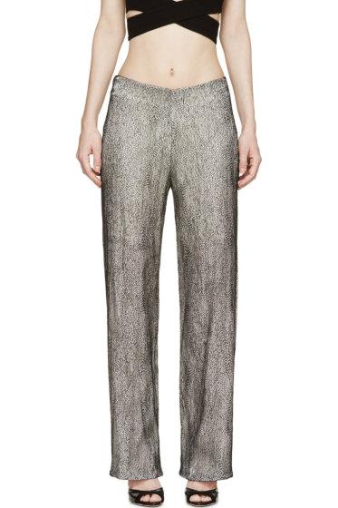 Iris van Herpen - Black & White Cymatic Lace Trousers