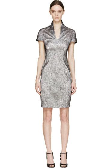 Iris van Herpen - Black & White Cymatic Lace Dress