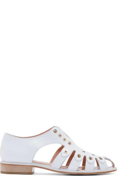 Robert Clergerie - White Grommet Jador Sandals