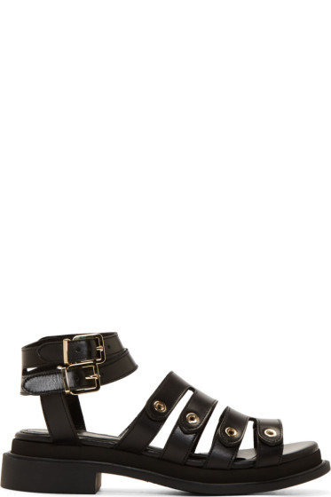 Robert Clergerie - Black Leather Caroube Sandals