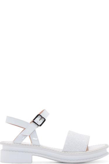 Robert Clergerie - White Paillettes Caset Sandals