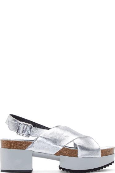 Robert Clergerie - Silver Tessa Platform Sandals