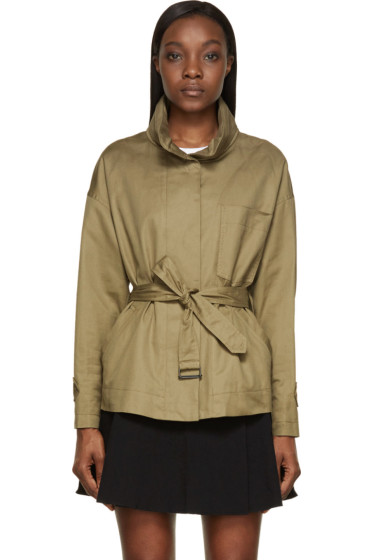 Isabel Marant Etoile - Khaki Cotton Costard Ira Jacket