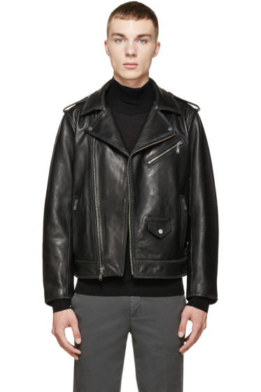 Marc by Marc Jacobs - Black Leather Martin Jacket