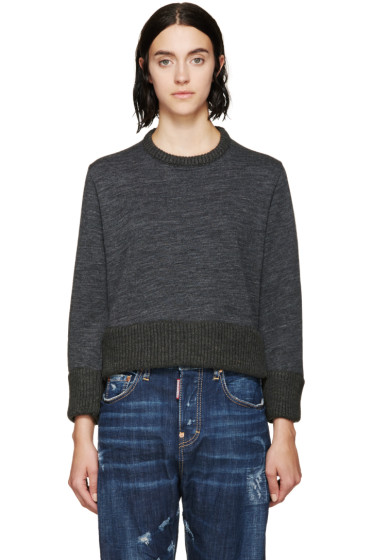 Dsquared2 - Dark Grey Cropped Sweater