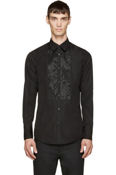 Dsquared2 - Black Beaded Bib Shirt