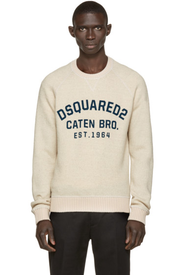 Dsquared2 - Beige Wool Dean Fit Sweater